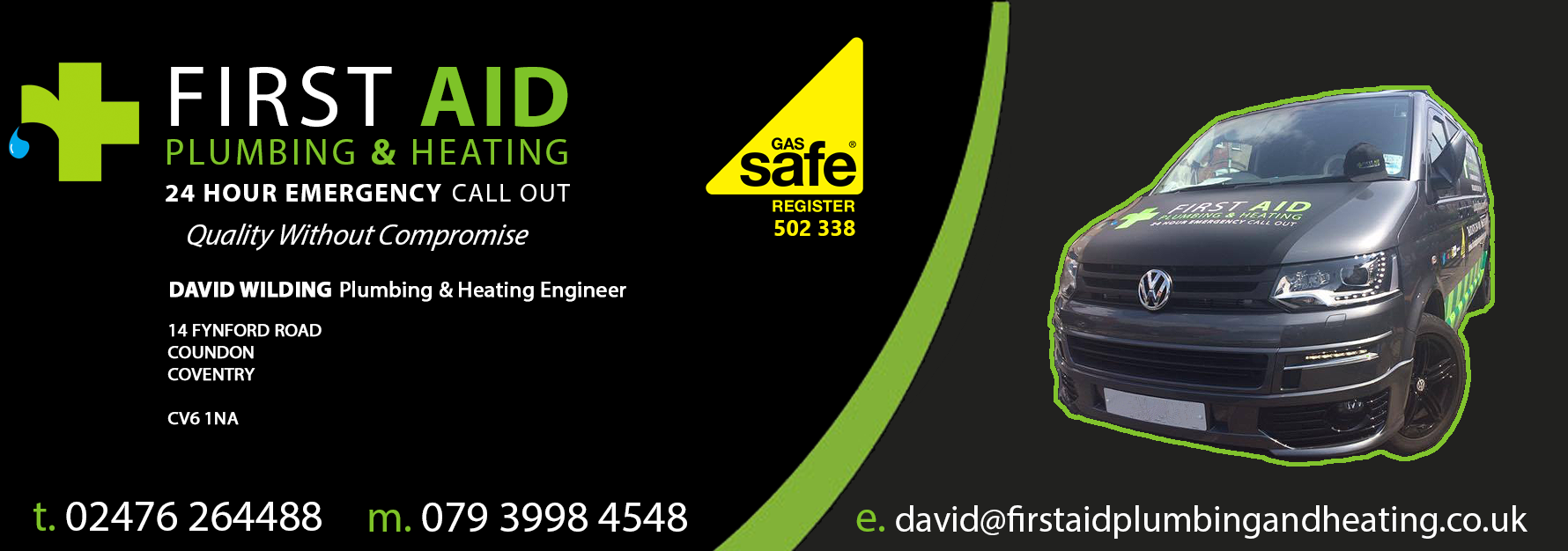 Firstaid Plumbing & Heating Engineers covering Coventry, Warwickshire and West Midlands